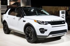 The Land Rover Discovery Sport. All white with black design pack!
