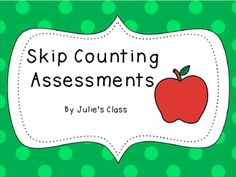 Here's a set of 3 cut and paste assessments for skip counting by 2, 5, and 10.