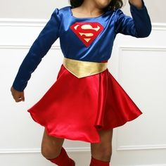 Make a Supergirl costume with a simple but fun circle skirt for Halloween this year!