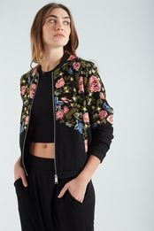 candice crepe bomber printed
