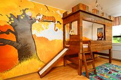 Calvin and Hobbes Bedroom Might be the Coolest Ever - TechEBlog