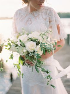 Photography : Kate Ignatowski Photography Read More on SMP: http://www.stylemepretty.com/2016/11/08/natural-blue-green-wedding-inspiration/
