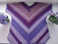 Crochet Cape, Crochet Granny, Knit Crochet, Capes & Ponchos, Crochet Clothes, Pullover, Free Pattern, Knitting Patterns, Women