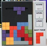 """A spinner """"Tetris"""" card"""