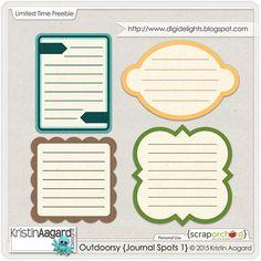 Free Outdoorsy Journal Spots | Kristin Aagard Designs