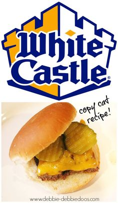 How to make white castle burgers. Your family will die for these! So easy. For my brother Danny Burger Recipes, Beef Recipes, Cooking Recipes, Recipies, Yummy Recipes, Dinner Recipes, Dinner Ideas, Beef Dishes, Food Dishes