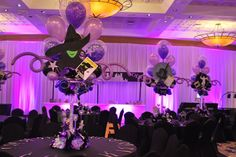 Broadway Themed Event   Broadway Themed Bat Mitzvah Event Decor Balloon Centerpieces Party ...