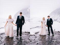 destination winter wedding photos