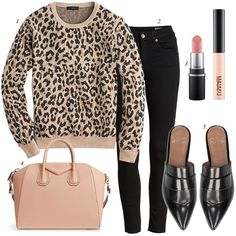 How to Style Leopard Sweatshirt Black Skinny Jeans - Jeans Black - Ideas of Jeans Black - black skinny jeans leopard sweatshirt build staple wardrobe virtual stylist personal stylist leopard sweater fall outfit ideas women fashion Sweatshirt Outfit, Outfit Jeans, Jean Jacket Outfits, Sweater Outfits, Fall Outfits, Cute Outfits, Black Jeans Outfit Fall, Fall Jeans, Outfit Grid