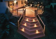 Trex dream deck...I like their solar powered lights they offer. We are putting them on the corner posts on our deck.