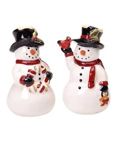 Take a look at this Rustic Snowman 3-D Salt & Pepper Shakers on zulily today!