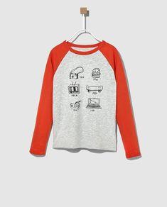 f08cdb64a Camiseta de niño Gap bicolor con print