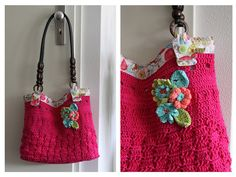 Roze tas.....like the pink bag and flower.. not the handle... should be another matierial