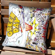 Green Day Dookie pillow.... I NEED THIS :D