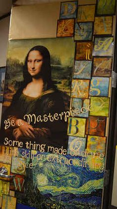 Be a Masterpiece | 29 Awesome Classroom Doors For Back-To-School