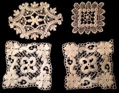Antique Schiffly Lace Trims Inserts Beautiful Edwardian Pattern Four Pieces IV | eBay