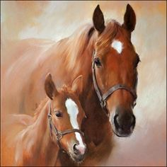 Mare Horse, Horse Galloping, Paper Napkins For Decoupage, Brown Horse, 5d Diamond Painting, Drawing Skills, Home And Deco, Easy Paintings, Scrapbook Paper Crafts