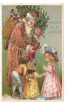 Santa Father Christmas Postcards Raphael Tuck Gold 2 Cards Use Same Image | eBay
