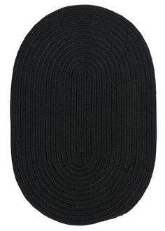 Boca Raton Polypropylene Braided Rug 3Feet by 5Feet Black ** Click on the image for additional details.