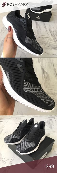 ADIDAS Shoes AlphaBOUNCE HPC ☺️ BRAND NEW with box  READY TO SHIP  ADIDAS Shoes AlphaBOUNCE HPC  100% Authentic  Women's Sneaker  Color : black + white + grey Size: 7  For cushioned comfort from mile one until you cross the finish, lace up the adidas AlphaBounce  [also check out my other listings for more great NIKE, JORDAN and ADIDAS sneakers for women. Variety of sizes]   Lots of Love adidas Shoes Sneakers