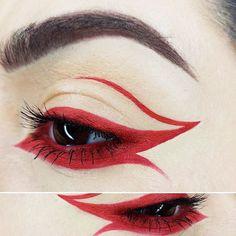 WEBSTA @ 4mandaleen - ❤️❤️❤️❤️❤️@katvondbeauty Everlasting Liquid lipstick in Outlaw@nyxcosmetics Hot Red lip liner on waterline❤️❤️❤️❤️❤️