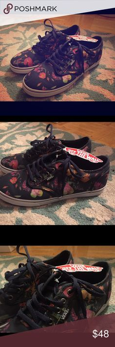VANS Floral-patterned Sneakers 6.5W Shoes Bnwt Size 6.5W floral-patterned VANS sneaker shoes, Bnwt! Vans Shoes Sneakers