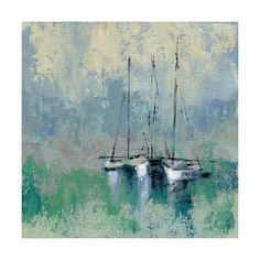 Trademark Fine Art Boats in Harbor II Square Canvas Wall Art Boat Painting, Painting Prints, Art Prints, Paintings, Canvas Wall Art, Canvas Prints, Canvas Canvas, Bay Boats, Square Canvas