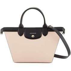 Longchamp Le Pliage Heritage Colorblock Shoulder Bag (59.690 RUB) ❤ liked on Polyvore featuring bags, handbags, shoulder bags, multi pattern, pink shoulder bag, shoulder handbags, pink purse, studded purse and pink shoulder handbags