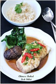 Cuisine Paradise | Singapore Food Blog | Recipes, Reviews And Travel: {Fishy Dinner} Chinese Baked Fish Fillet And Baked Cheesy Salmon With Wasabi