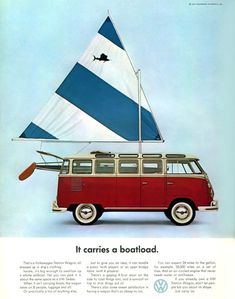 VW Volkswagen Bus It Carries A Boatload 1963 - Mad Men Art: The 1891-1970 Vintage Advertisement Art Collection