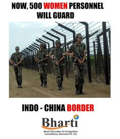 Now, 500 Women Personnel Will Guard Indo- China Border  For Immigration, contact Bharti Immigration Get more info @ http://bhartigroup.in/  #bharti #immigration #Bhartiimmigration #chandigarh #bestimmigrationConsultancy #studyvisa #study #visa #abroad #touristvisa #businessvisa #america #Australia #abroadvisa #newzeland #immigrationservices #studyabroad #visaservice #visaconsultant #number1 #company #best #mohali #US #UK #passport #india #cyprus #canada #USA