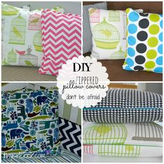 DIY Zippered Pillow Covers {that even a beginner like me can do}