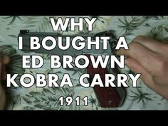 Why I bought a ED BROWN 1911
