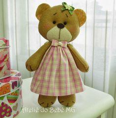 Ateliê do Bebê MG: Ursinhas para Abajur ( Bianca )