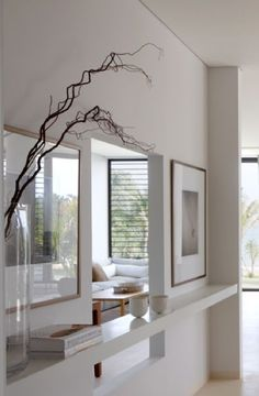 Interior of the Cape Yamu house in Phuket by Deborah Oppenheimer. Between kitchen and den Interior Design Elements, Interior Design Inspiration, Modern Design, Interior Architecture, Interior And Exterior, Console Table Living Room, Modern Spaces, Contemporary Interior, Decoration