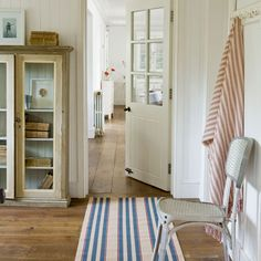 How to decorate a hallway....LOVE, LOVE, LOVE this door!!  I think it would look awesome in my house.