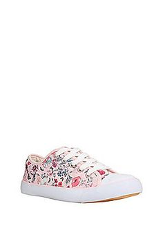 Image result for TESCO FLORAL LACE CANVAS SHOE