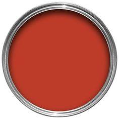 Dulux Once Matt Emulsion Roasted Red - kitchen with Tangerine Twist