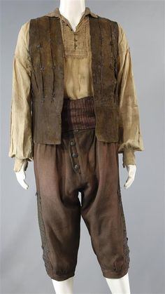 BLACK SAILS ELLERS SCREEN WORN STUNT DOUBLE PIRATE COSTUME SS 3 & 4