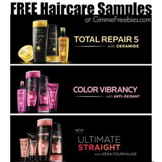 Free L'Oreal Paris Sample - Color Vibrancy & Total Repair ** New ** - http://gimmiefreebies.com/free-loreal-paris-haircare/