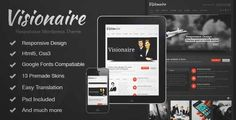 Download and review of Visionaire - Responsive Business Wordpress Theme, one of the best Themeforest Corporative themes