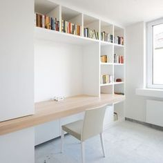 Parete attrezzata Con Libreria Angolare Résultat De Recherche D . Storage wall With Corner Bookcas Home Office Space, Home Office Design, Home Office Decor, House Design, Home Decor, Room Interior, Interior Design, Bedroom Desk, Bookcase