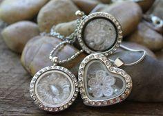 Wedding Lockets, custom memory lockets with your wedding dress, heirloom collection