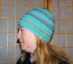 Let There Be Stripes Beanie is a simple hat consisting of rows of sc and dc. Works up quickly. Crochet Crafts, Free Crochet, Beanie Pattern, Color Change, Tweed, Knitted Hats, Free Pattern, Crochet Patterns, Stripes