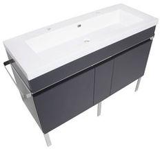 Plan de toilette grande vasque en résine L. 120X l.45,9X H. 17cm