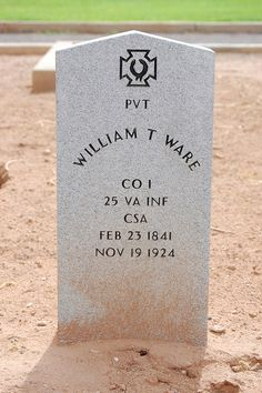 William T Ware  CO I  25 VA INF  CSA