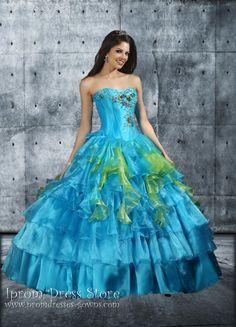 Ball Gown Strapless Neckline Floor length Sleeveless Blue Quinceanera Dress
