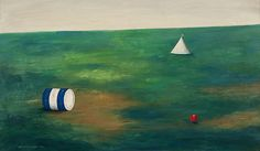 Kamil Lhoták - Landscape with a ball Heart Of Europe, Landscape, Painting, Scenery, Painting Art, Paintings, Painted Canvas, Corner Landscaping, Drawings