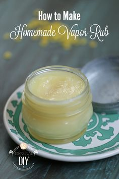 A tutorial that shows you how to make your own homemade vapor rub. This super tutorial for how to make homemade vapor rub offers a video tutorial too.