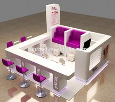 Nail bar kiosk for beauty manicure service photo detailed about picture on table ideas . professional nail bar used manicure Home Nail Salon, Nail Salon Design, Nail Salon Decor, Salon Interior Design, Beauty Bar Salon, Beauty Salon Design, Kiosk Design, Bakery Design, Cafe Design